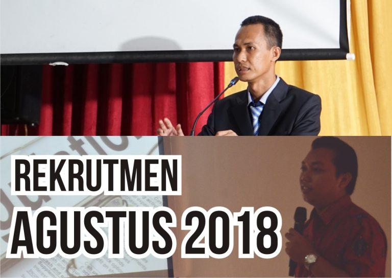 Rekrutmen Agustus 2018